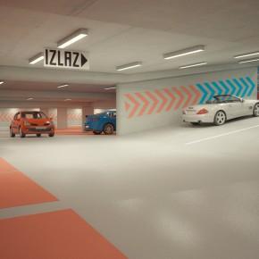 Javna podzemna garaža Trg M. Šufflaya, Karlovac